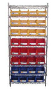 Wire Shelving with Bins Unit (WSR3614-003) pictures & photos