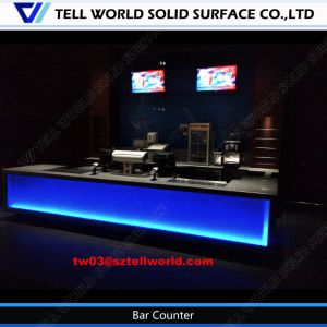 Modern LED Lighted Counter Commercial Bar Counter Design Faux Stone Bar Counter pictures & photos