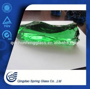 Clear Green Glass Rocks for Fireplace & Landscape & Square & Garden & River Decoration pictures & photos