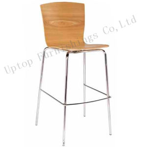 Leisure Backrest Restaurant Bentwood Bar Stool with Steel Legs (SP-UC220) pictures & photos