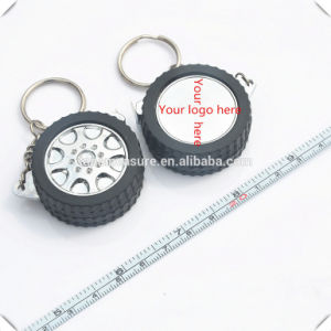 Promotional Round Mini Retractable Steel Tire Measure (MST-029) pictures & photos