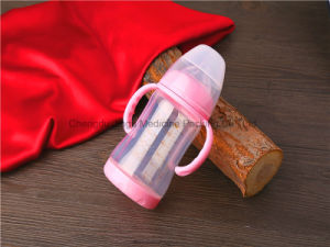 180ml High Borosilicate Glass Baby Bottle with Protective Cover BPA Free pictures & photos