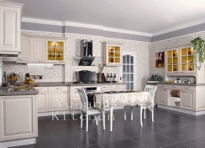 Hot Selling White Wooden Kitchen Cabinets #2012-115 pictures & photos