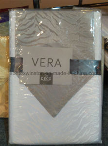 Polyester Solid Jacquard Table Cloth with Runner pictures & photos