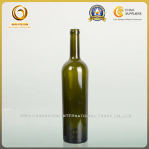750ml High Taper Wine Glass Bottle in Antique Green for High Grade Wine (585) pictures & photos