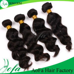 Double Drawn 100% Virgin Brazilian Human Hair Extension pictures & photos