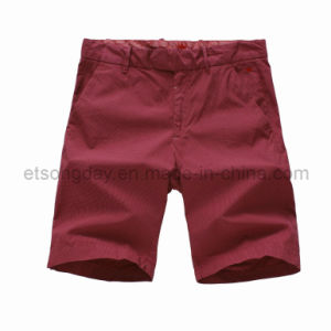 Red 100% Cotton Men′s Shorts for Sale (E10016GBP1M) pictures & photos