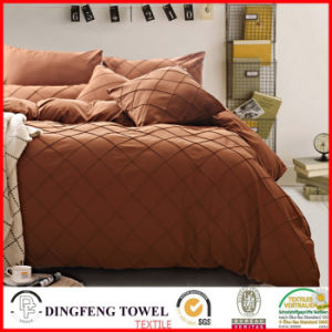 Microfiber Check Pattern Solid Bed Sets Df-8819 pictures & photos