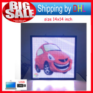 Indoor Full Color LED Screen Panel USB Editable Support Text Logo Image Advertising LED Display Sign pictures & photos