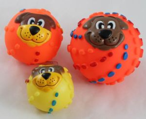 Pet Dog Head Vinyl Ball Toys Pet Products pictures & photos