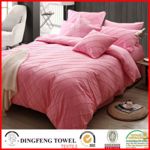 Microfiber Check Pattern Solid Bed Sets Df-8818 pictures & photos