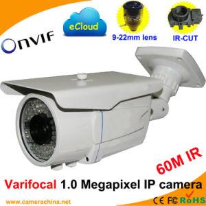 Weatherproof Varifocal 1.0 Megapixel Onvif Network IP Camera (60M IR) pictures & photos