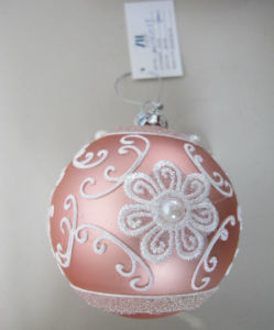 Pink Handpainting Christmas Glass Crafts pictures & photos