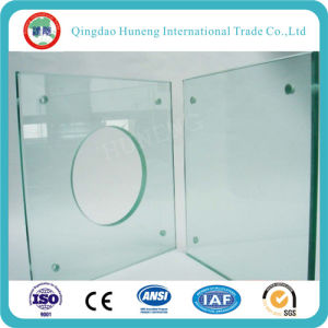 Huneng Brand Clear Tempered Glass Table Glass Doors pictures & photos