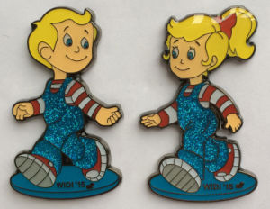 Custom Made Kids′ Lapel Pin with Soft Enamel&Glitter (badge-193) pictures & photos