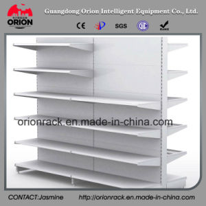 Double Back Panel Metal Supermarket Shelf pictures & photos
