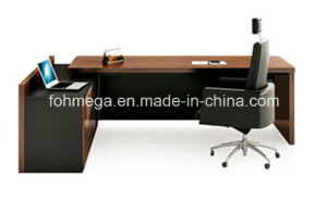 Walnut Mcf Perfect Design Executive Desk for Sale (FOH-HMB241) pictures & photos