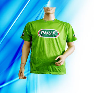 100% Polyester Man′s Sublimation Print T-Shirt pictures & photos