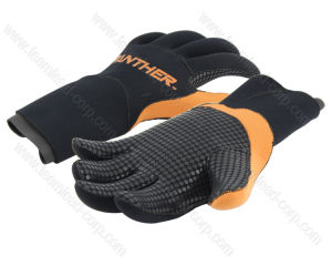 Black Yellow Interval Promotional Neoprene Gym Gloves (QK-GL-01) pictures & photos