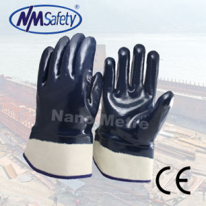 Nmsafety Heavy Duty Blue High Quality Nitrile Oil Proof Work Glove pictures & photos