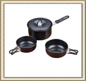 Non Stick Camping Cookware Set Cl2c-Dt1512-4 pictures & photos