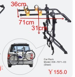 Car Back Bicycle Rack pictures & photos