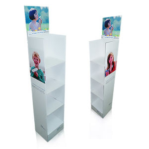 Cardboard Paper Retail Floor Display Stand Units, Supermarket Corrugated Display Shelf Rack pictures & photos