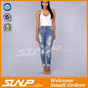 Ladies Leisure Clothes Fashion Denim Jeans with Hole