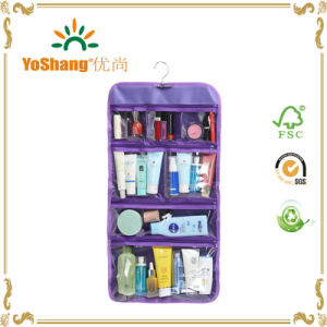 Foldable Clear Hanging Travel Toiletry Bag Cosmetic Organizer Storage Bag pictures & photos