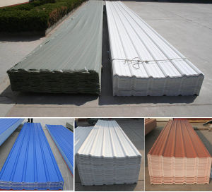 Trapezoid Shape PVC Roofing Sheet pictures & photos
