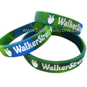 Elastic Debossed Printed Rubber Bracelet pictures & photos