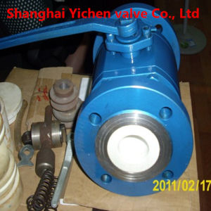 Wcb Lining Ceramic Flanged Ball Valve pictures & photos