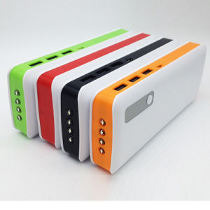3USB 4 LED Light 12000mAh Power Bank for Mobile Phone pictures & photos