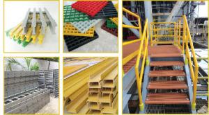 High Flexibility Fiberglass FRP Pultruded Profiles, FRP Channel, FRP Handrail