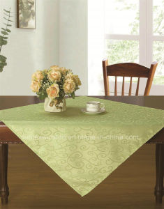 Solid Jacquard Tablecloth pictures & photos
