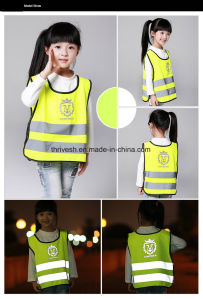 Children Cute High Visibility Reflective Safety Traffic Vest pictures & photos