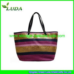 2015 New Fashional Zippered Beach Bags Handmade PP Handbag