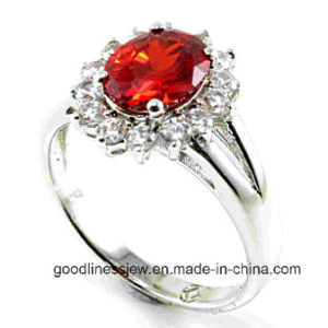 New Product 925 Solid Silver Ring Shiny CZ Wedding Silver Ring Wholesale R10140 pictures & photos