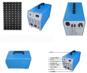 Factory Original 100W Solar Portable Home Power System with LED Lamps Fans TV Sets pictures & photos