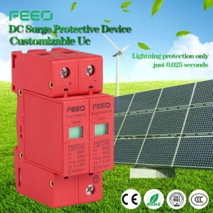 DC 600V 2p PV Solar 20-40ka Single Phase Surge Arrester pictures & photos