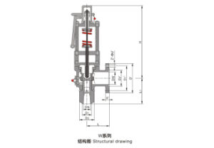 Spring Full Bore Type Safety Valve W Series pictures & photos