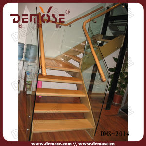 Clear Glass Railings Staircase (DMS-2014)