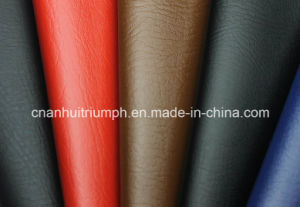 100%PU Leather for Shoes (tg65) pictures & photos
