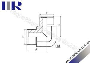 90 Degree Elbow Metric Male O-Ring Adapter Hydraulic Nipple (1E9)
