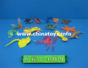 Hot Sale Plastic Toy Marine Aminal Soft Toy (867409) pictures & photos