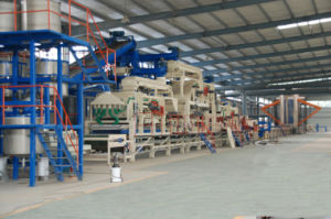 Plain or Melamine Particle Board/ Laminated Chipboard Processing Machine pictures & photos