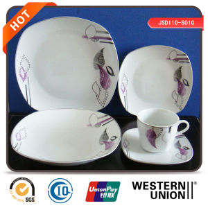 Best Quality 20PCS Square Shape Porcelain Dinner Set pictures & photos