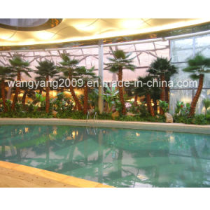 Factory Wholesale Hot Decorative Plastic Artificial Palm Tree pictures & photos