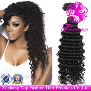 7A-Brazilian Hair Unprocessed Deep Wave Weft 100% Virgin Remy Human Hair Extension pictures & photos