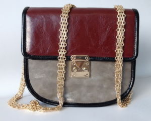 PU Leather Saddle Handbag (DS140603)